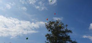 foto wensballon in de lucht